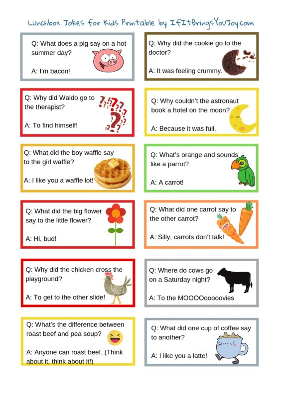 photo about Printable Jokes named 80+ Amusing Jokes for Children (and older people)! IfItBringsYouJoy